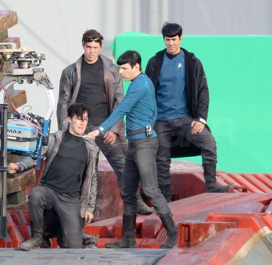Star Trek 2 - Benedict Cumberbatch and Zachary Quinto (Spock).