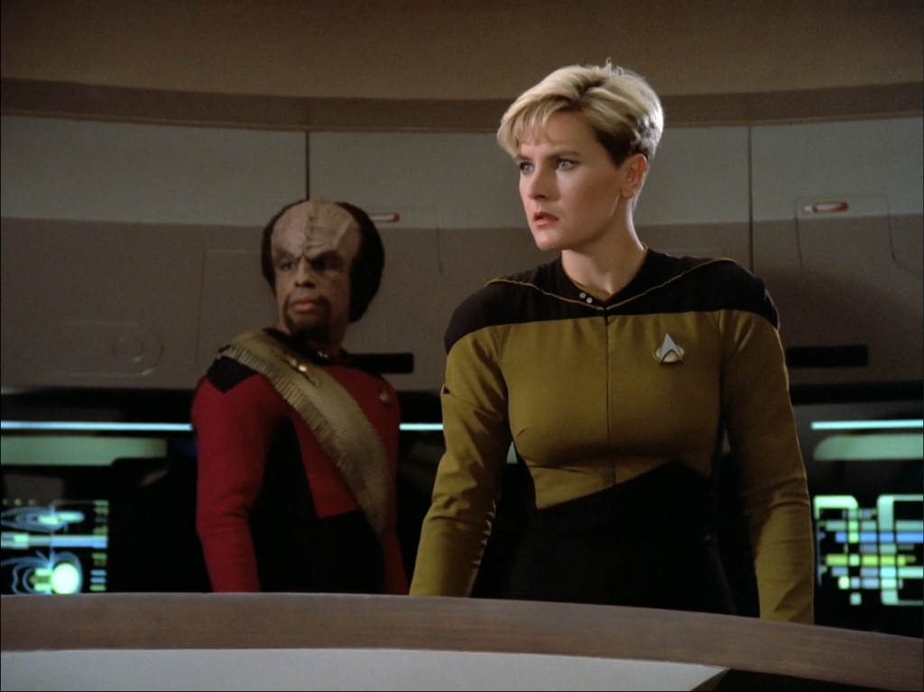 Tasha Yar and Worf