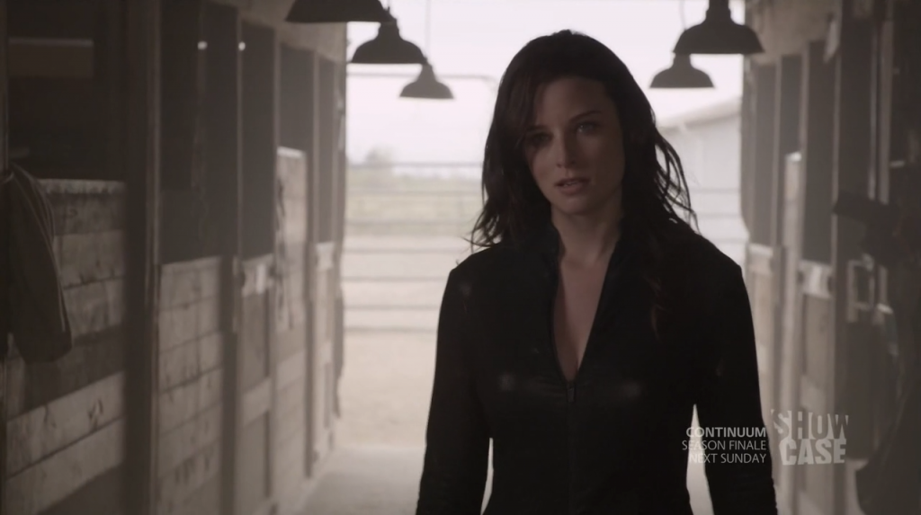 Rachel Nichols in Black bodysuit - Continuum