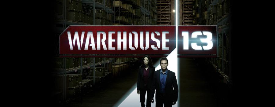 Warehouse 13 Logo - Joanne Kelly Eddie McClintock Saul Rubinek Jaime Murray