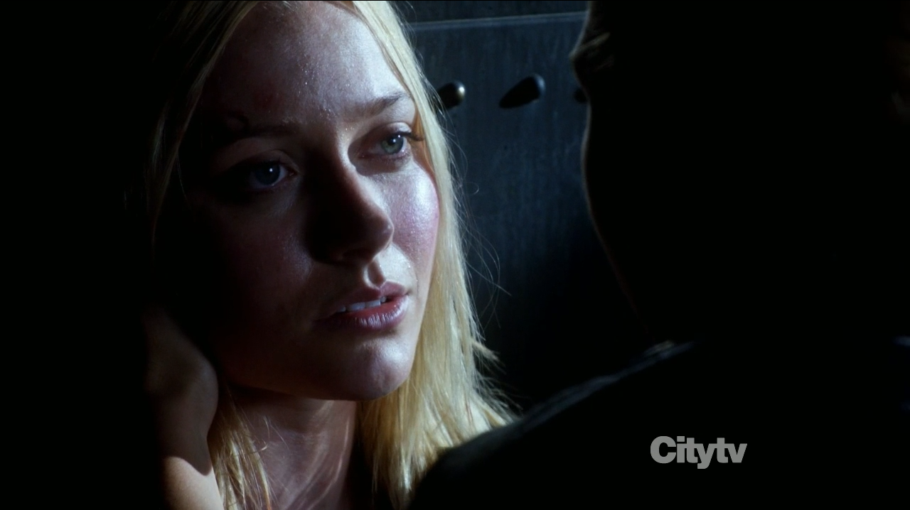 Georgina Haig in Fringe - The Bullet that saved the World as Etta dying.