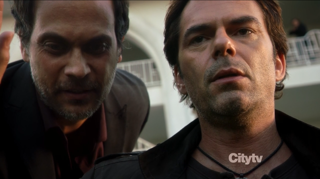 Mile Matheson (Billy Burke) and Drexel (Todd Stashwick)