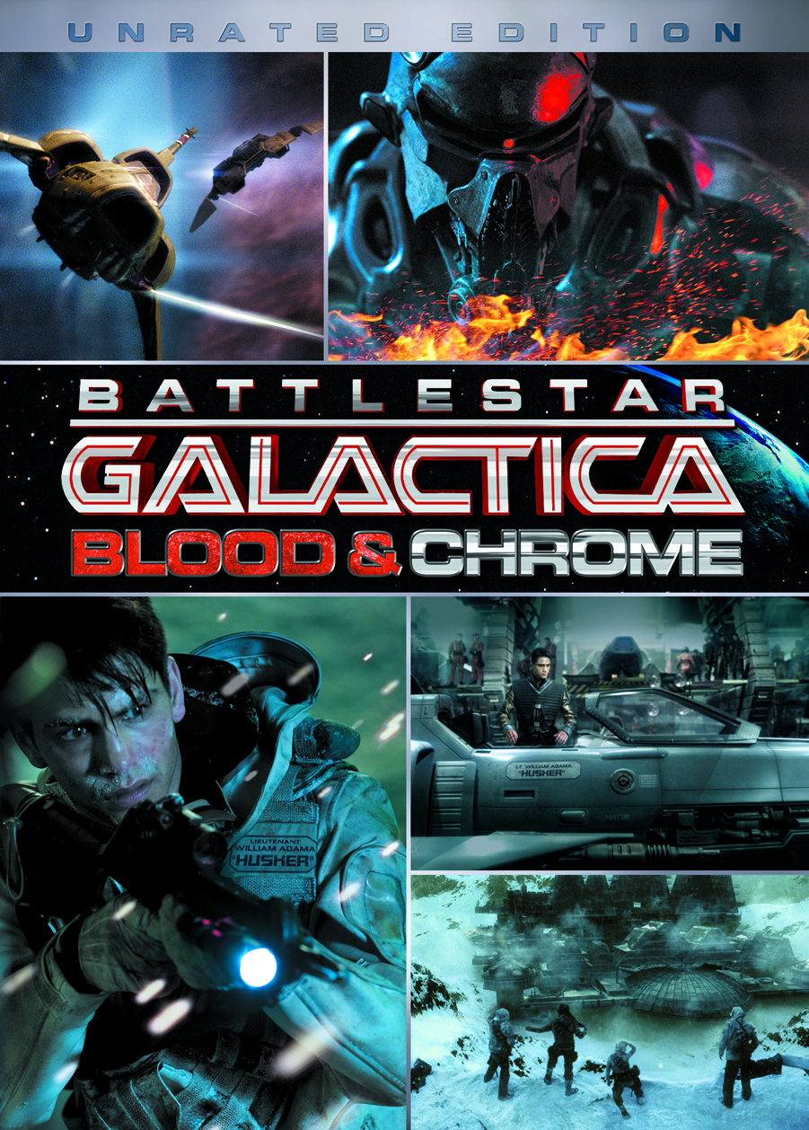 Battlestar Galactica: Blood and Chrome - Blu-ray / DVD cover - unrated edition