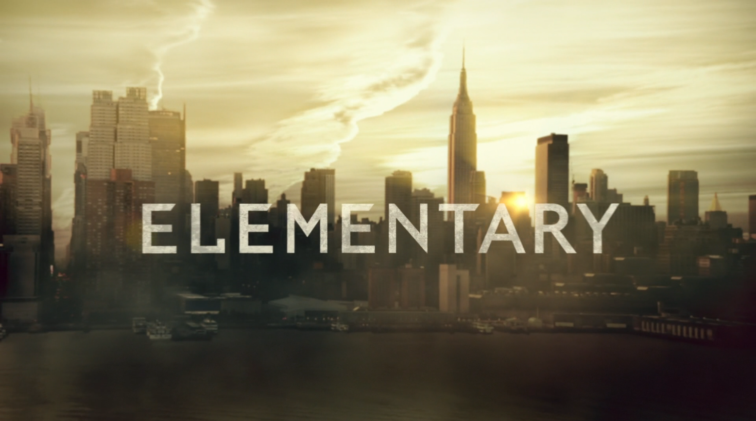 Elementary TV-show Logo - Starring Jonny Lee Miller as Sherlock Holmes and Lucy Liu as Joan Watson