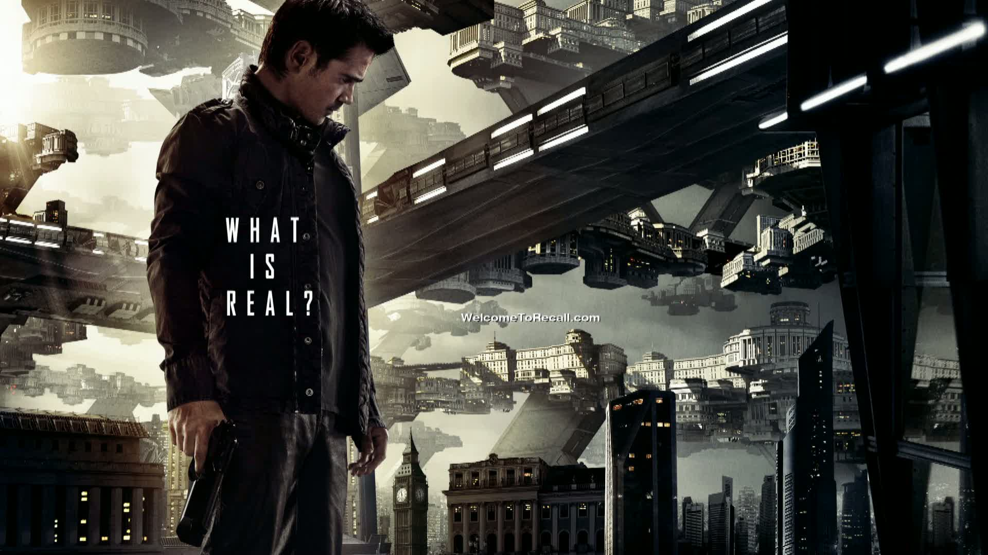 Total Recall Poster - Colin Farrell - Jessica Biel &amp; Kate Beckinsale - Total Recall (2012) Movie Review!