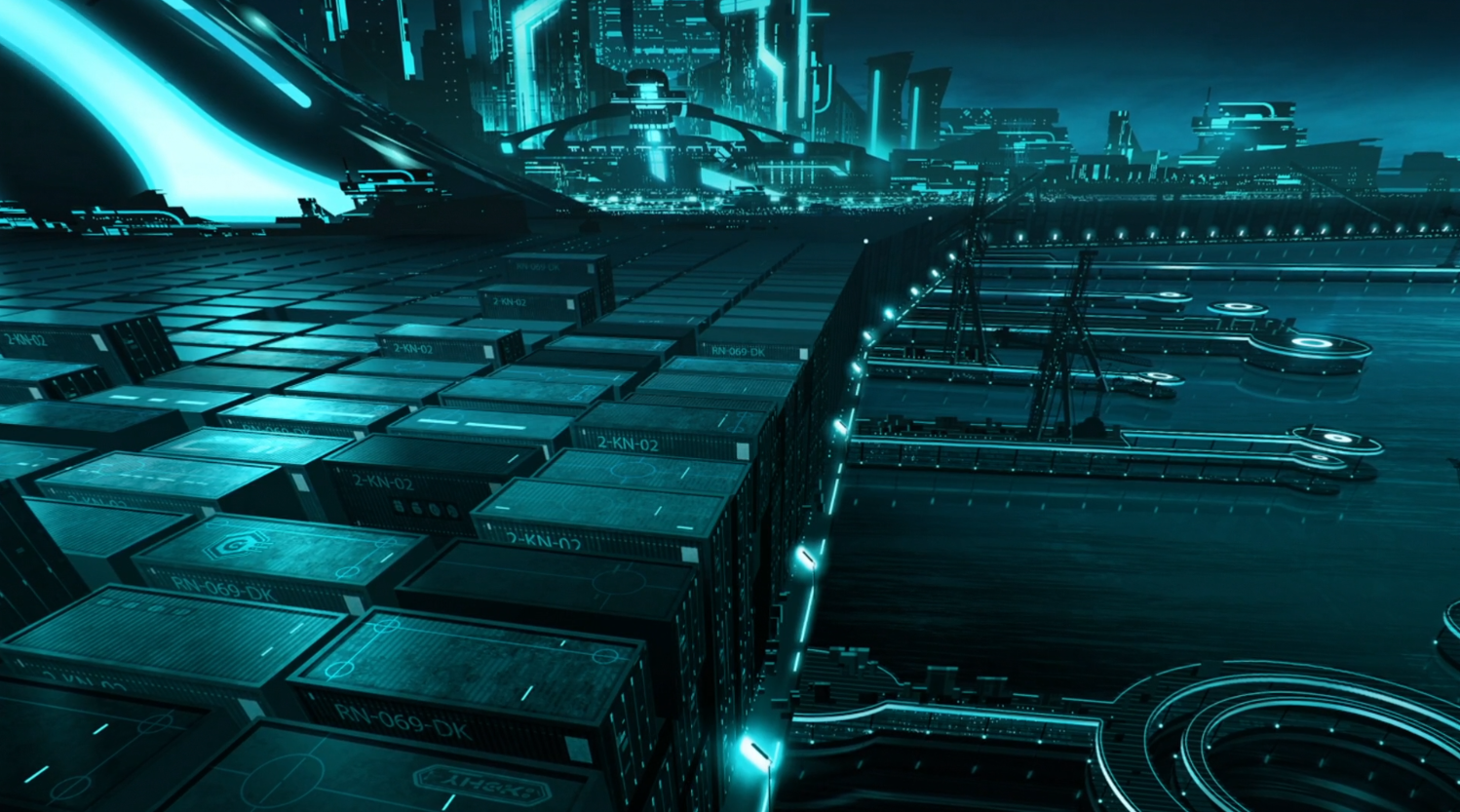 Argon city harbor - Terminal - Tron: Uprising