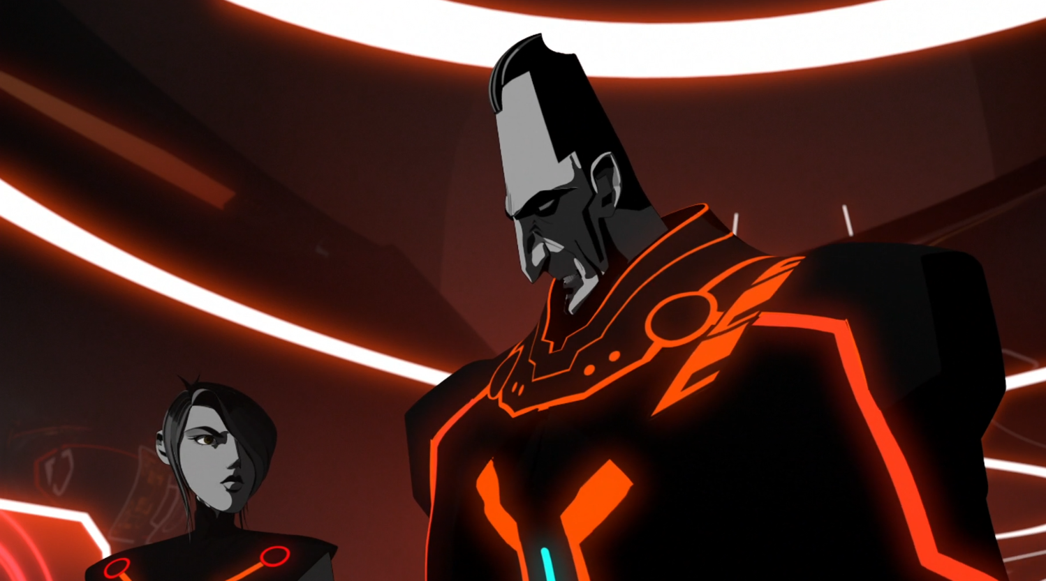 General Tesler and Paige - Terminal - Terminal - Tron: Uprising
