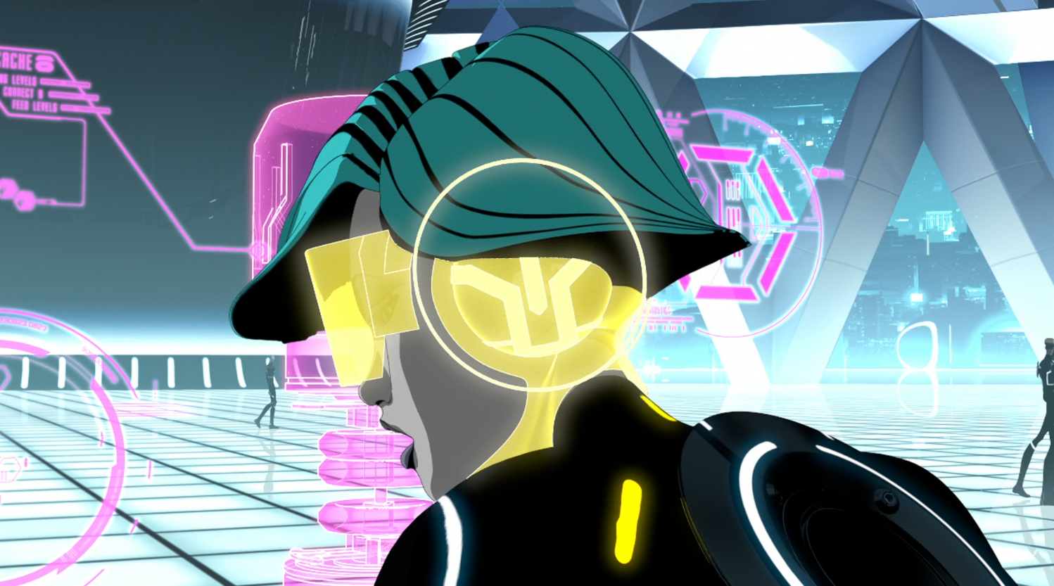 Mara working in Able's shop - Terminal - Terminal - Tron: Uprising