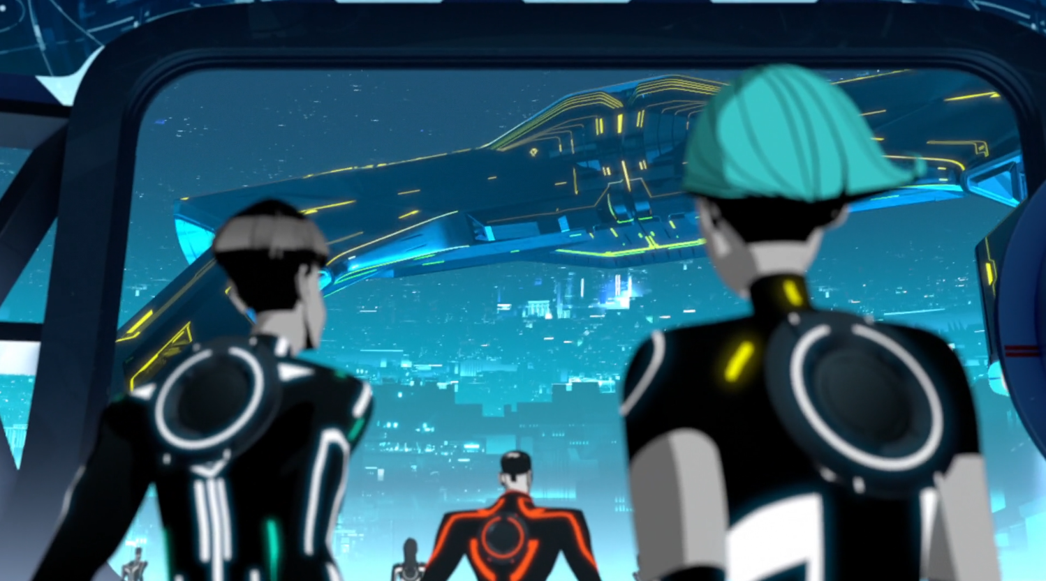 Recognizer crashes near Able's garage - Terminal - Terminal - Tron: Uprising