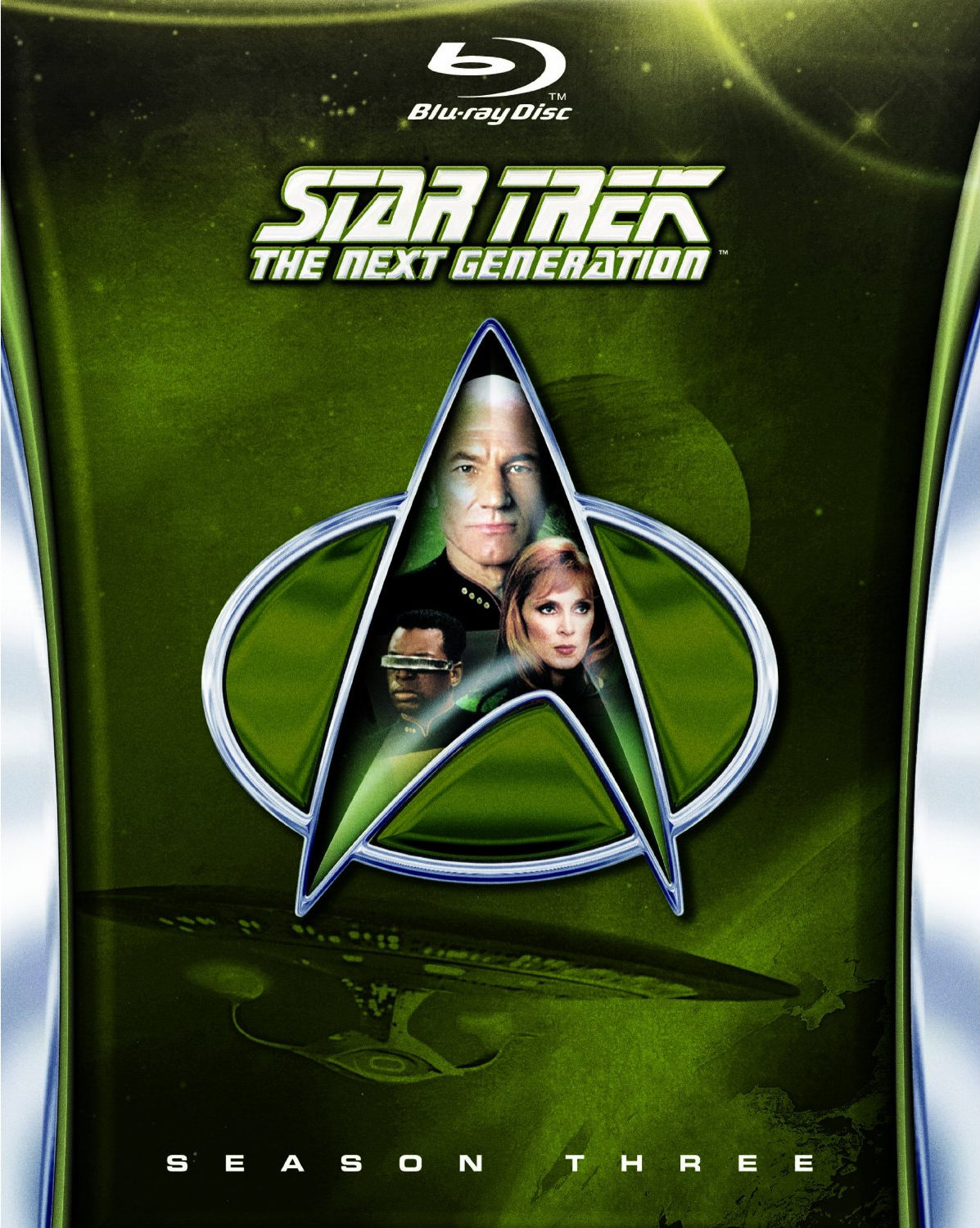 Star Trek The Next Generation Season 3 Blu-ray cover - scifiempire.net