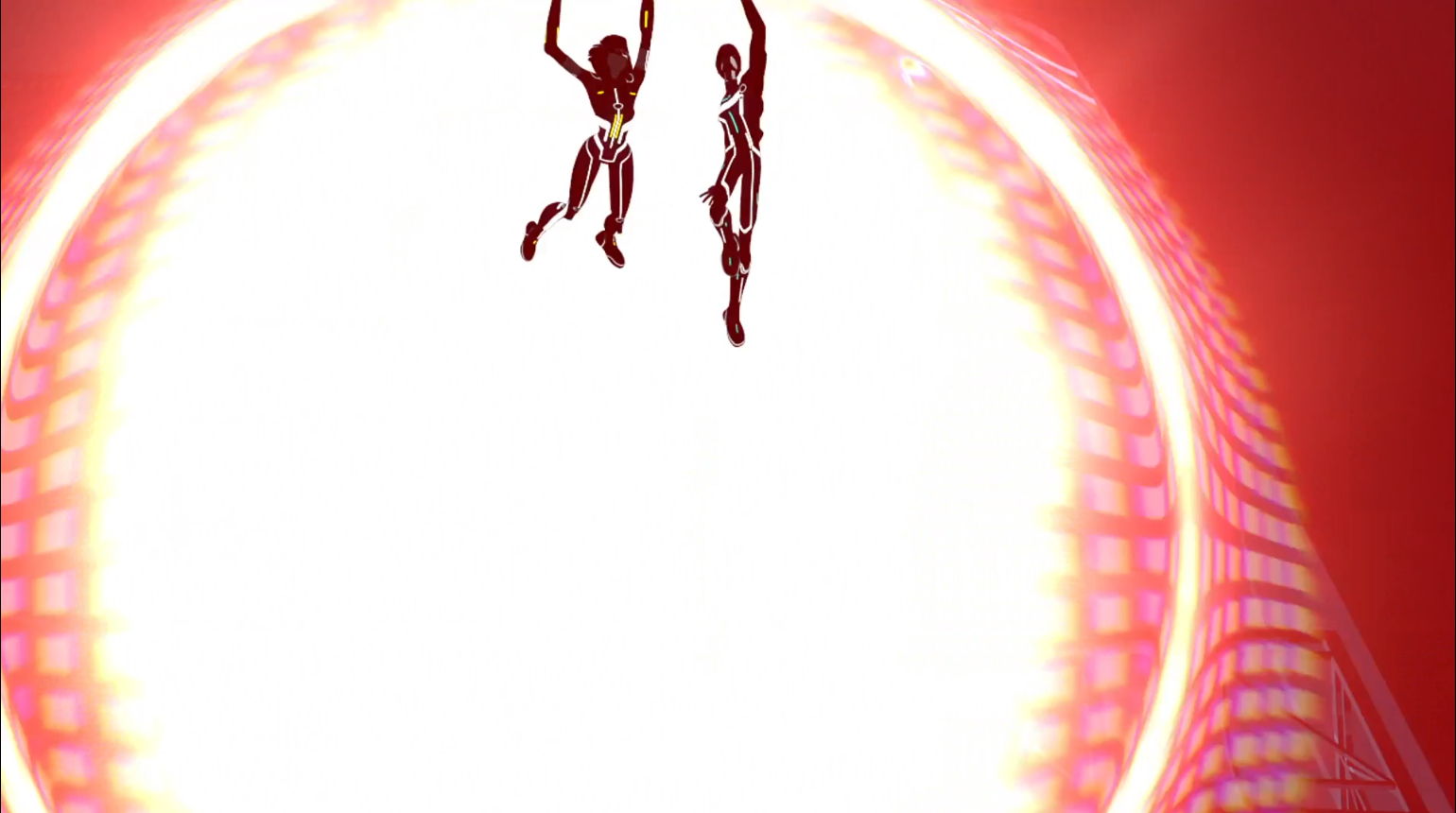 Tron Uprising - Mara and Zed manage to escape the explosion