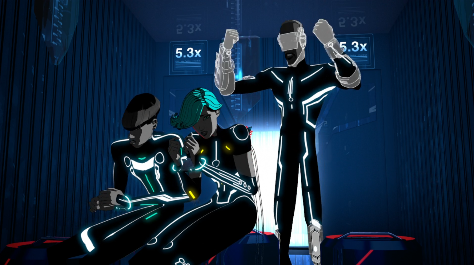 Tron Uprising - No Bounds - Able tries to disarm the bomb