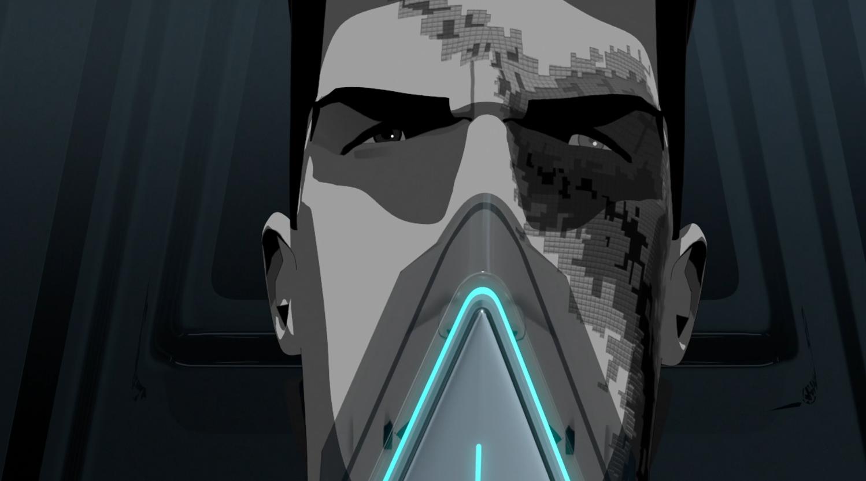 Tron with virus scars - Terminal- Terminal - Tron: Uprising