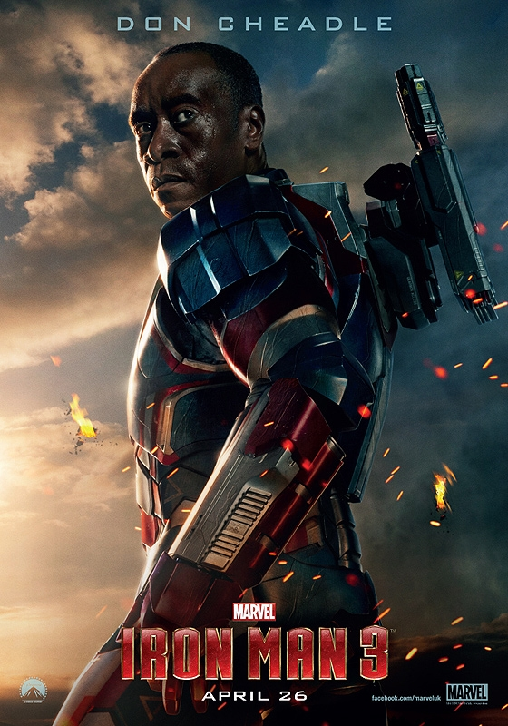 Don Cheadle as Colonel Rhodes - Iron Man 3