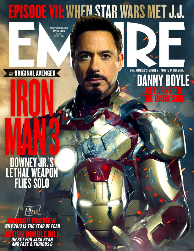 Empire Magazine - Iron man 3 Cover Tony Stark Robert Downey Jr.