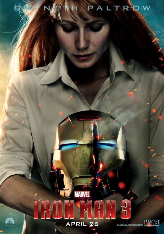 Gwyneth Paltrow as Pepper Potts in Iron Man 3 poster