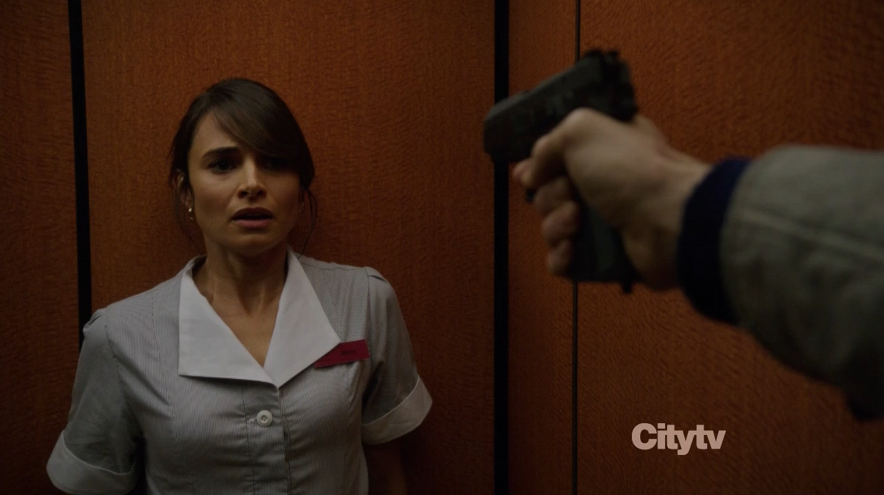 Mia Maestro as the maid - Person of Interest