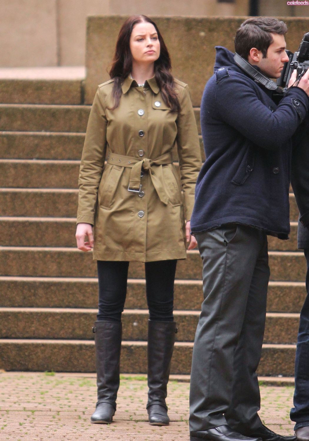 Rachel Nichols filming Continuum Season 2 in Vancouver 2