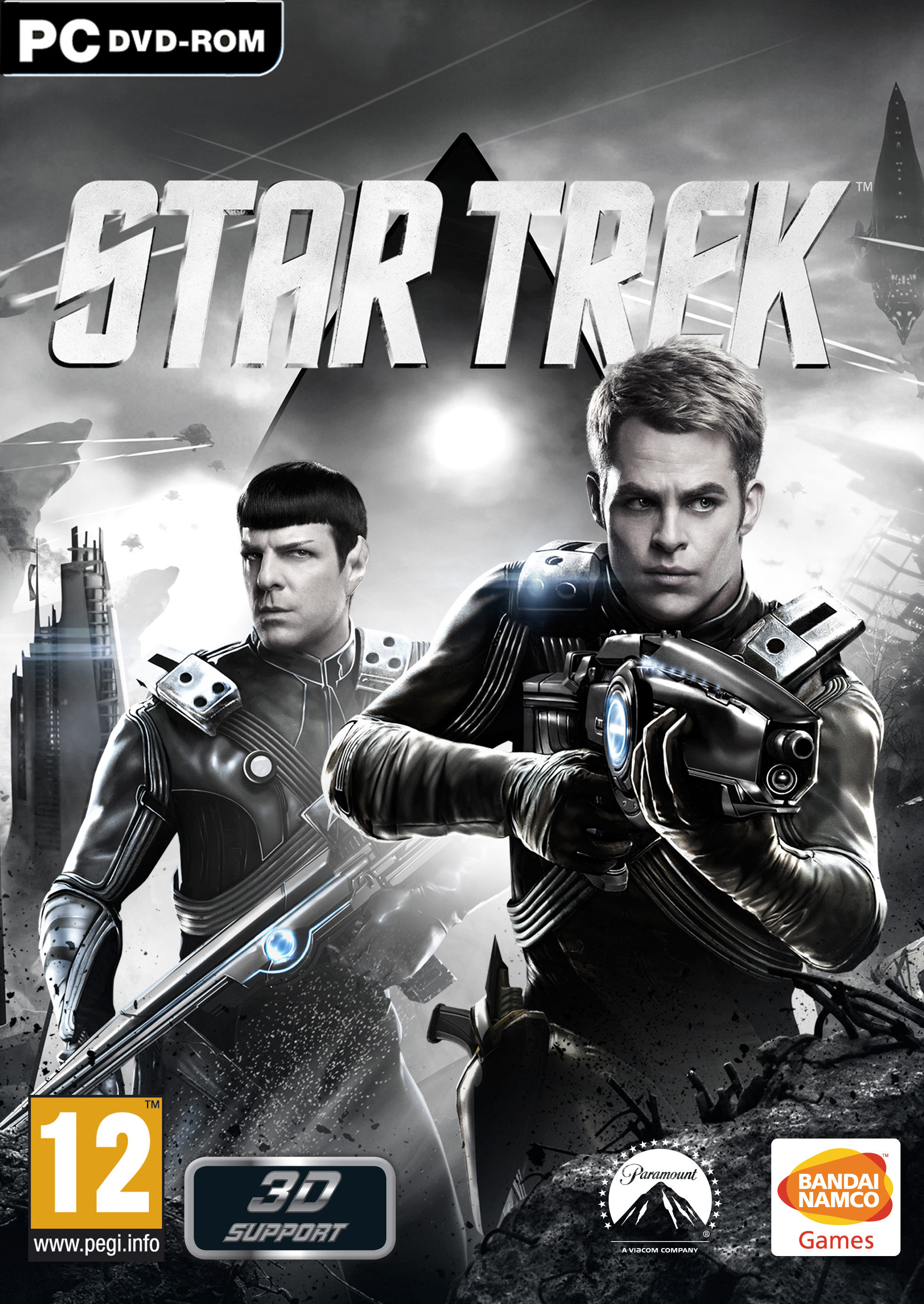 Star Trek Video Game Cover - Chris Pine and Zachary Quinto