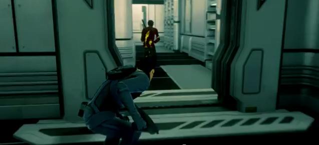 Star Trek Video Game - Spock using stealth