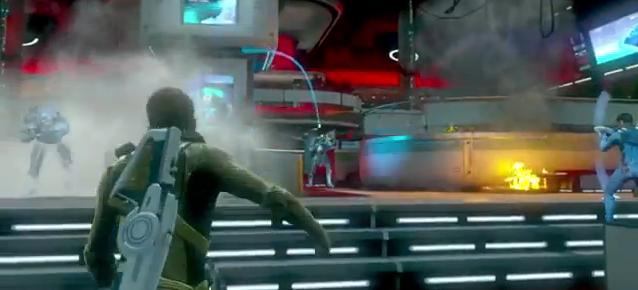 Star Trek Video Game - Tossing Grenades