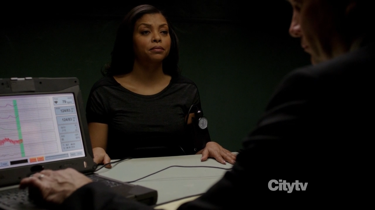 Taraji P. Henson as Detective Carter undergoing polygraph test - Person of Interest