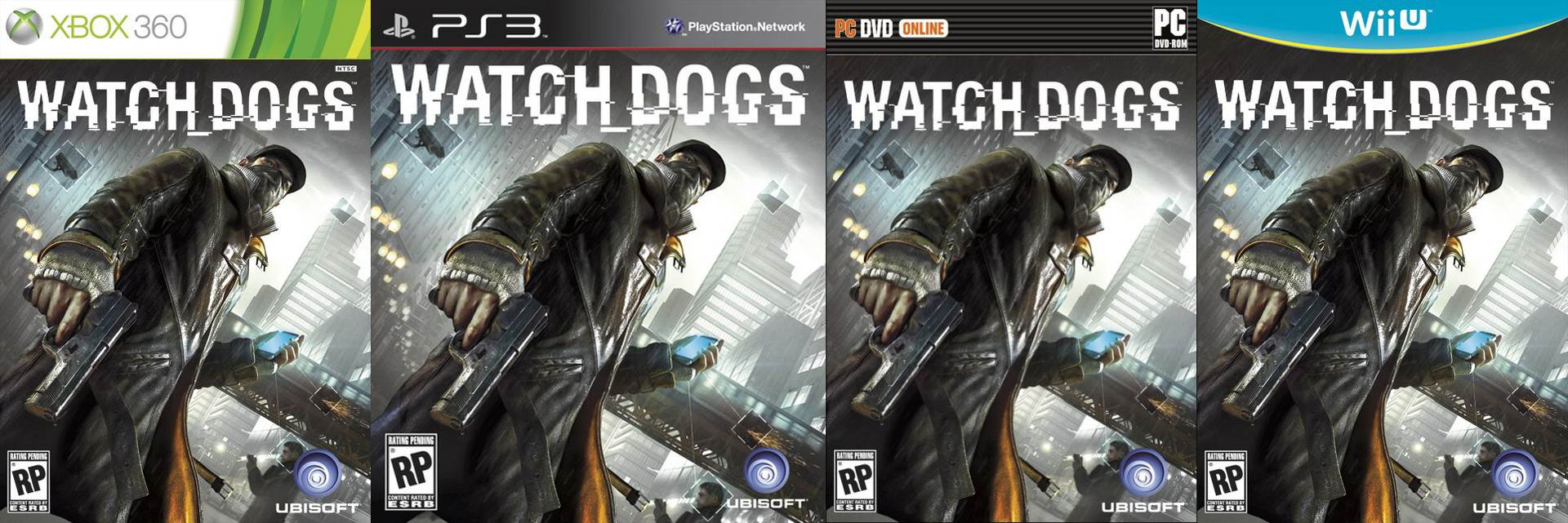 Watch Dogs (Ubisoft) cover art Xbox-360, PS3, PC and Wii U
