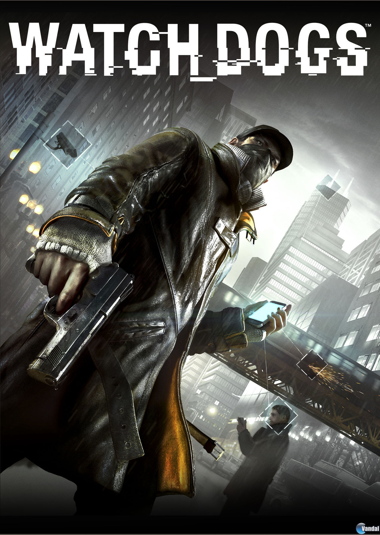 Watch Dogs (Ubisoft) cover art for PS3, PS4 Xbox-720, Nintendo Wii U and Windows PC