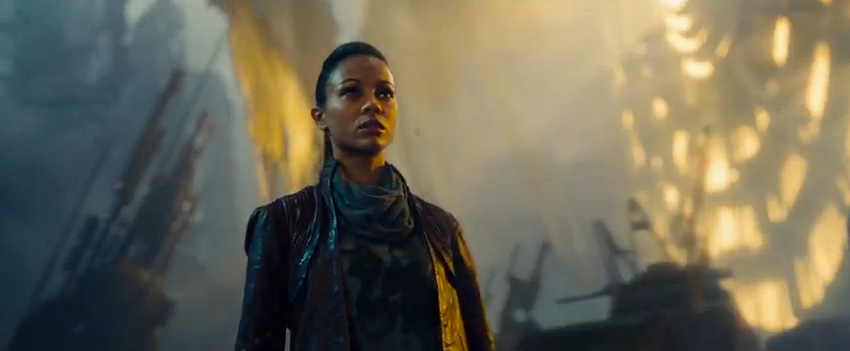 Zoe Saldana as Uhura in Star Trek Into Darkness