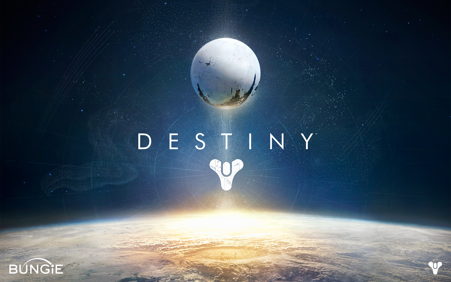This is the poster for Destiny, a first person shooter by Bungie, Inc. Makes for a good Destiny Wallpaper too