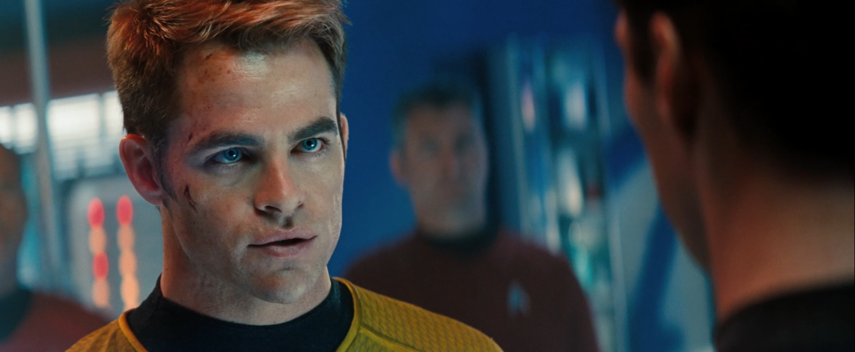Captain Kirk (Chris Pine) in Star Trek Into Darkness