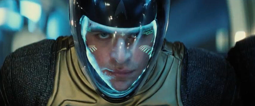 Captain Kirk (Chris Pine) in space suit - Star Trek Into Darkness