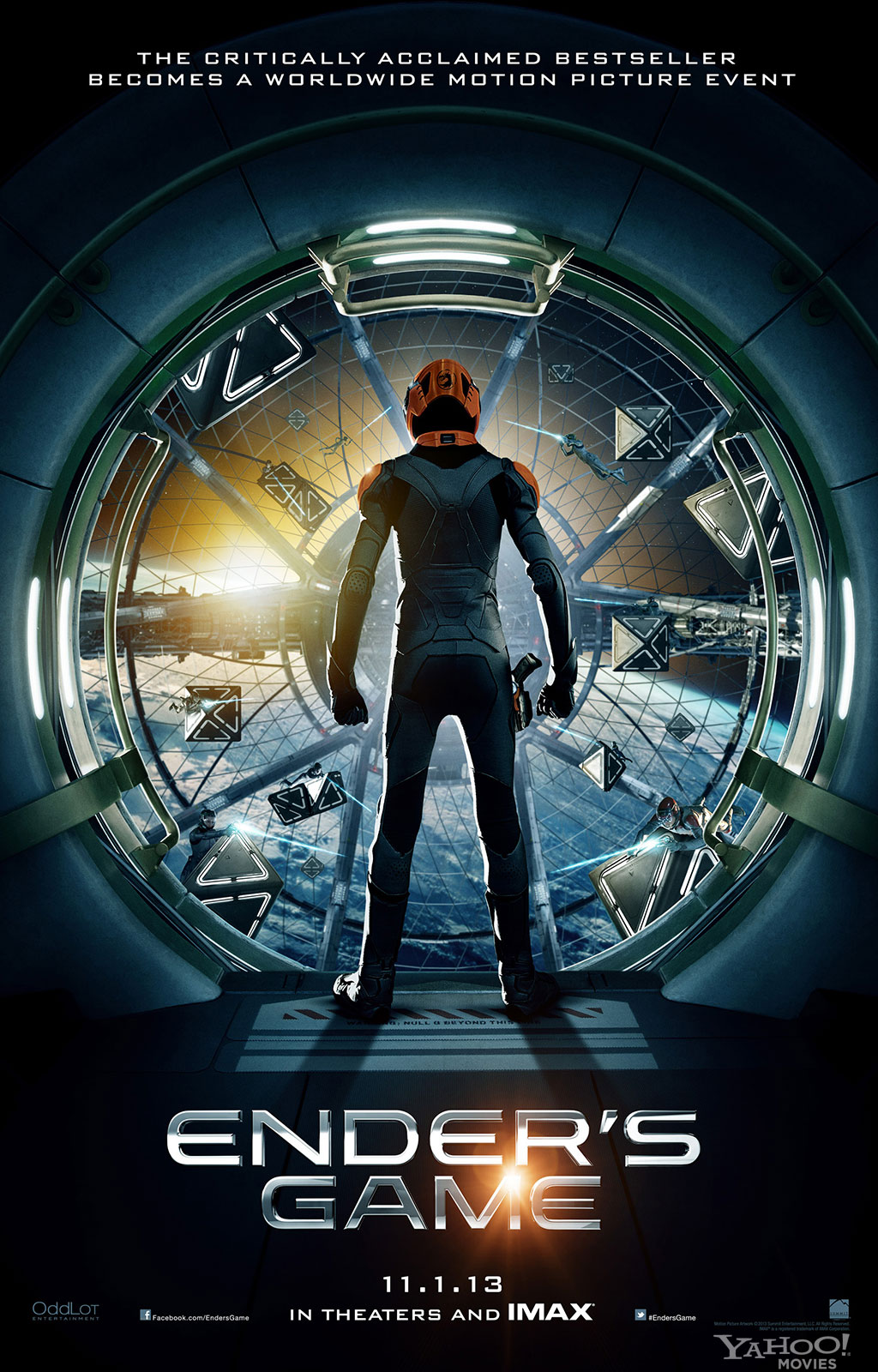 Ender's Game poster with Asa Butterfield as Ender Wiggin - scifiempire.net
