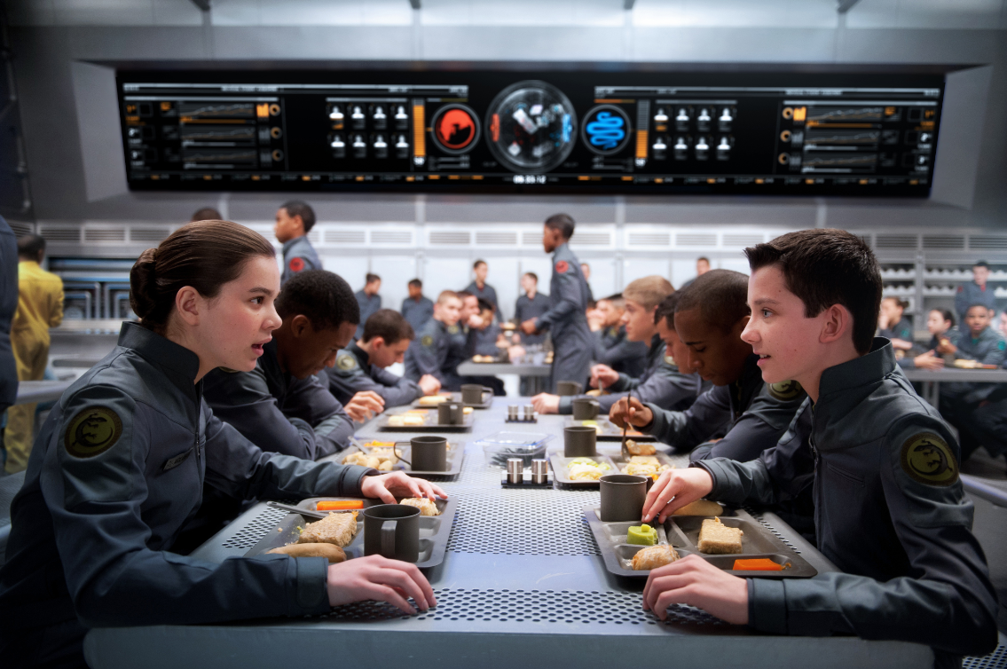 Ender's Game with Asa Butterfield as Ender Wiggin and Hailee Steinfeld as Petra Arkanian  - scifiempire.net