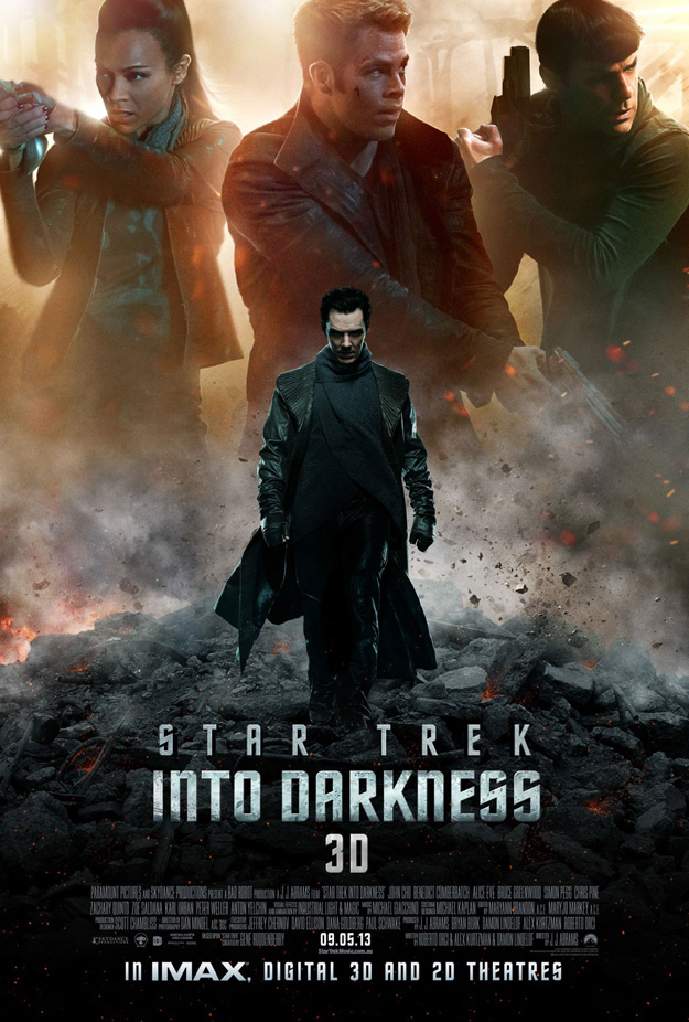 Star Trek Into Darkness International Poster - Chris Pine, Zachary Quinto, zoe Saldana and Benedict Cumberbatch - scifiempire.net
