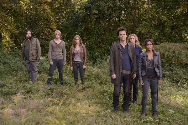 Revolution gang - Aaron, Danny, Charlie, Miles, Rachel and Nora