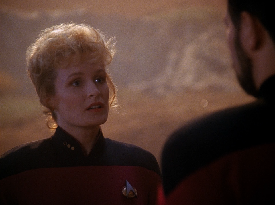Elizabeth Dennehy as Commander Shelby - The Best of Both Worlds - Star Trek The Next Generation