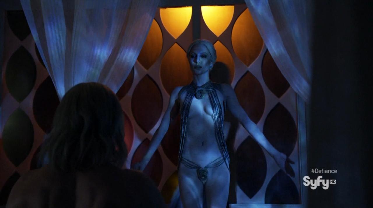 Jaime Murray as Stahma Tarr nude in Defiance