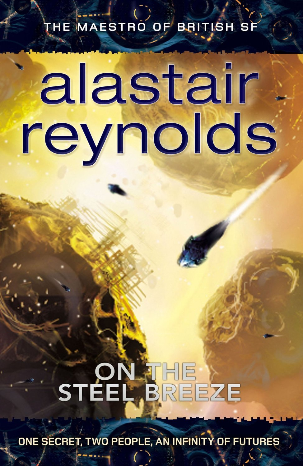 Cover of On the Steel Breeze by Alastair Reynolds - Poseidon's Children - Gollancz