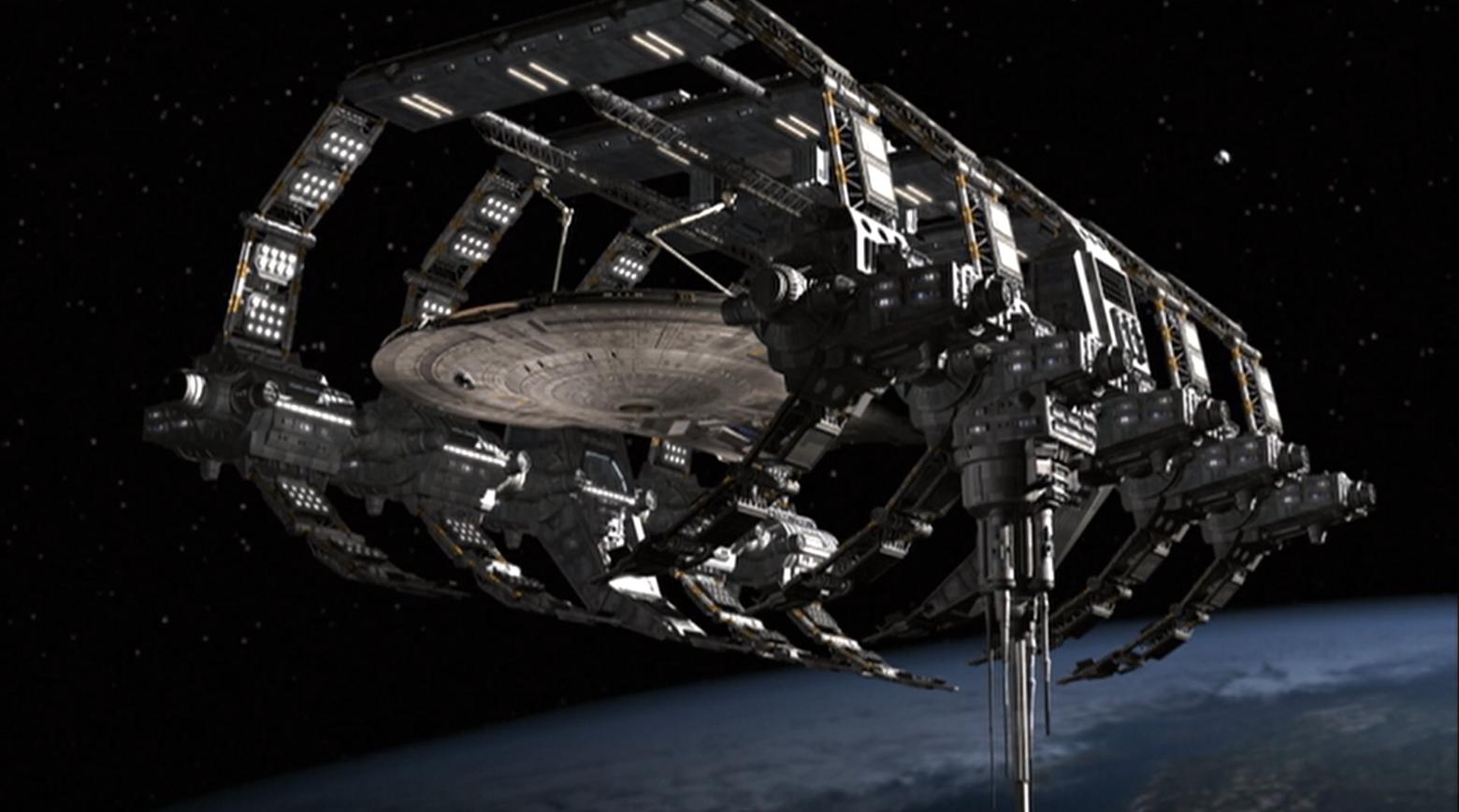 The Enterprise in dry-dock - Enterprise Star Trek Enterprise Season 1 Blu-ray Review