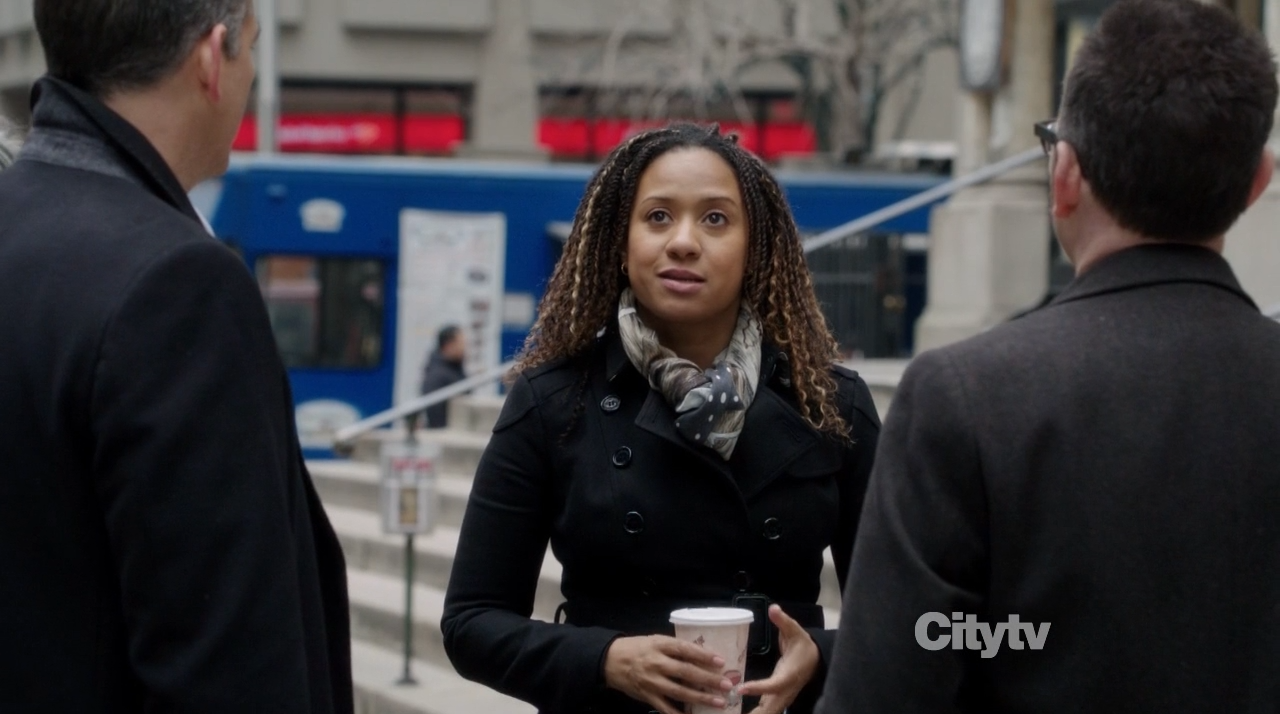 Tracie Thoms as the person of interest with Finch and Reese - Trojan Horse