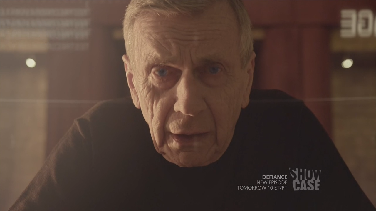 William B. Davis as the old Alec Sadler talking to his younger self - Continuum Second Chances