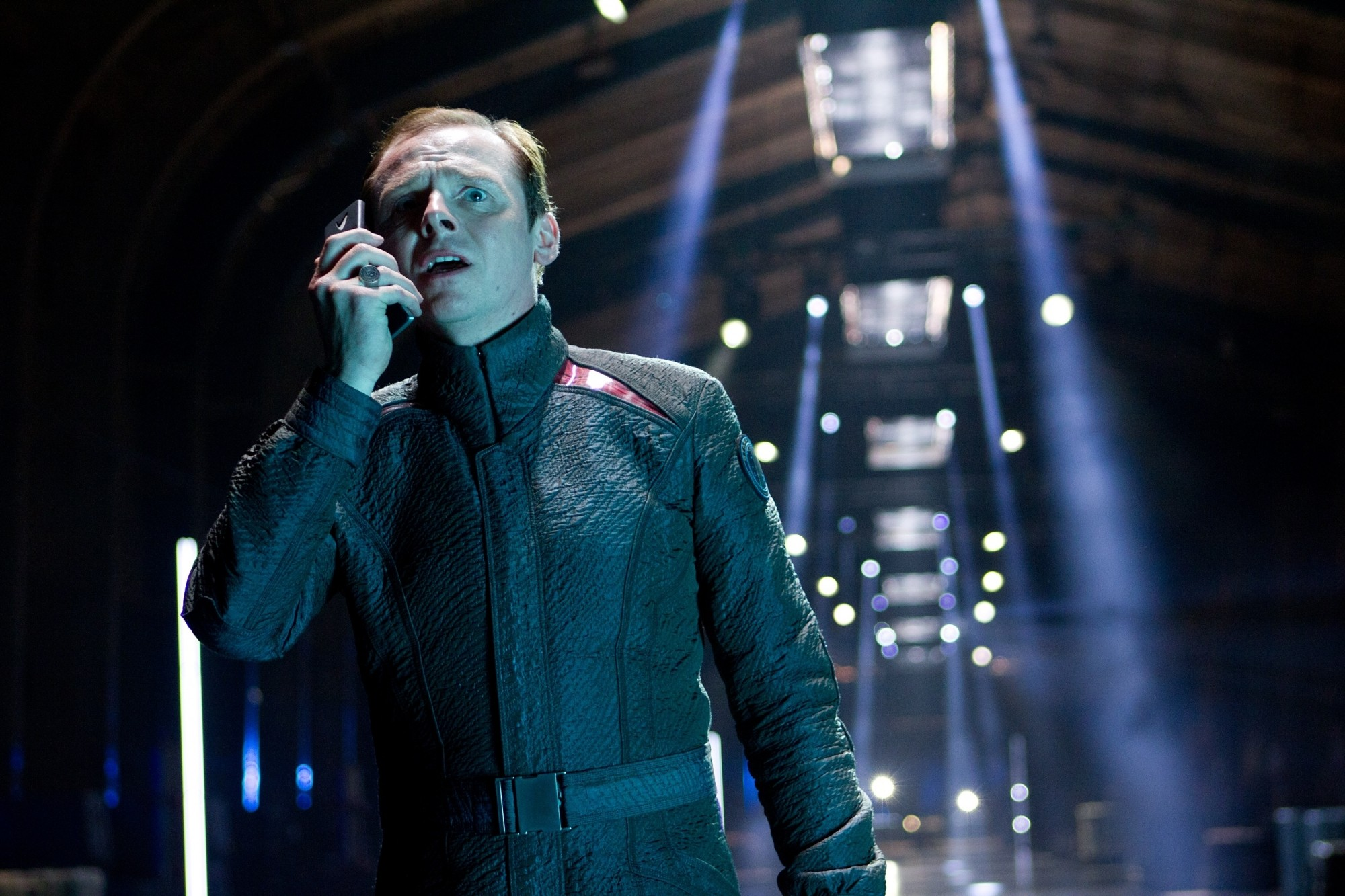 Simon Pegg as Scotty in Star Trek Into Darkness