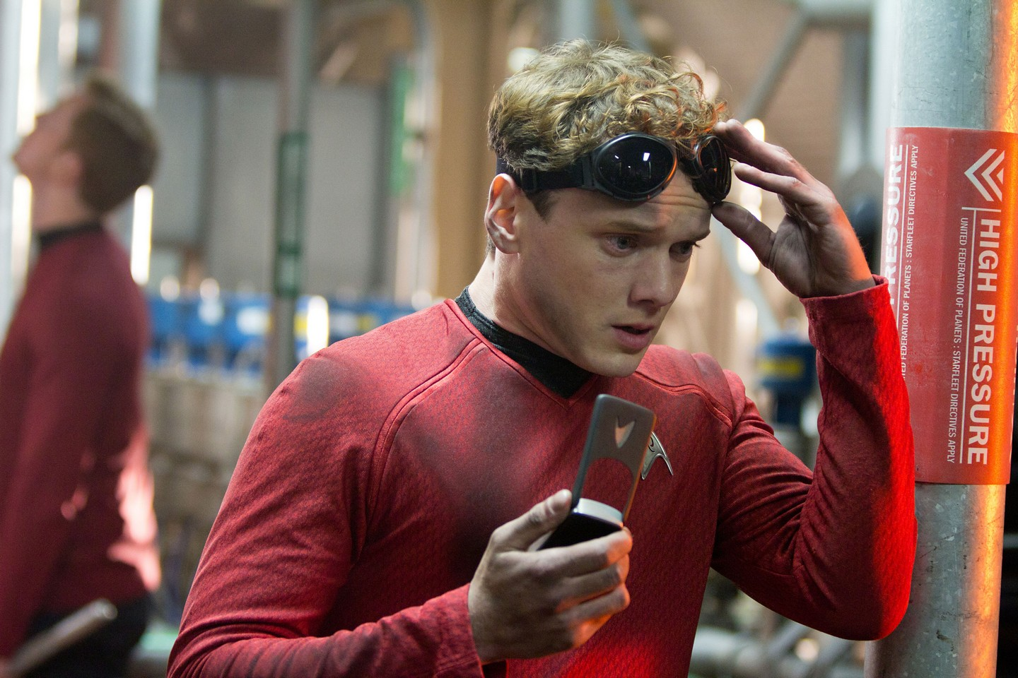 Anton yelchin as Pavel Chekov in Star Trek Into Darkness
