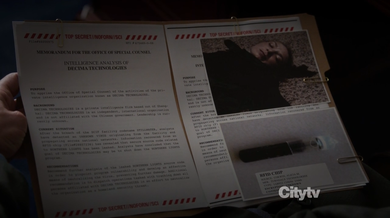Alicia Corwin's file - Person of Interest - Zero Day