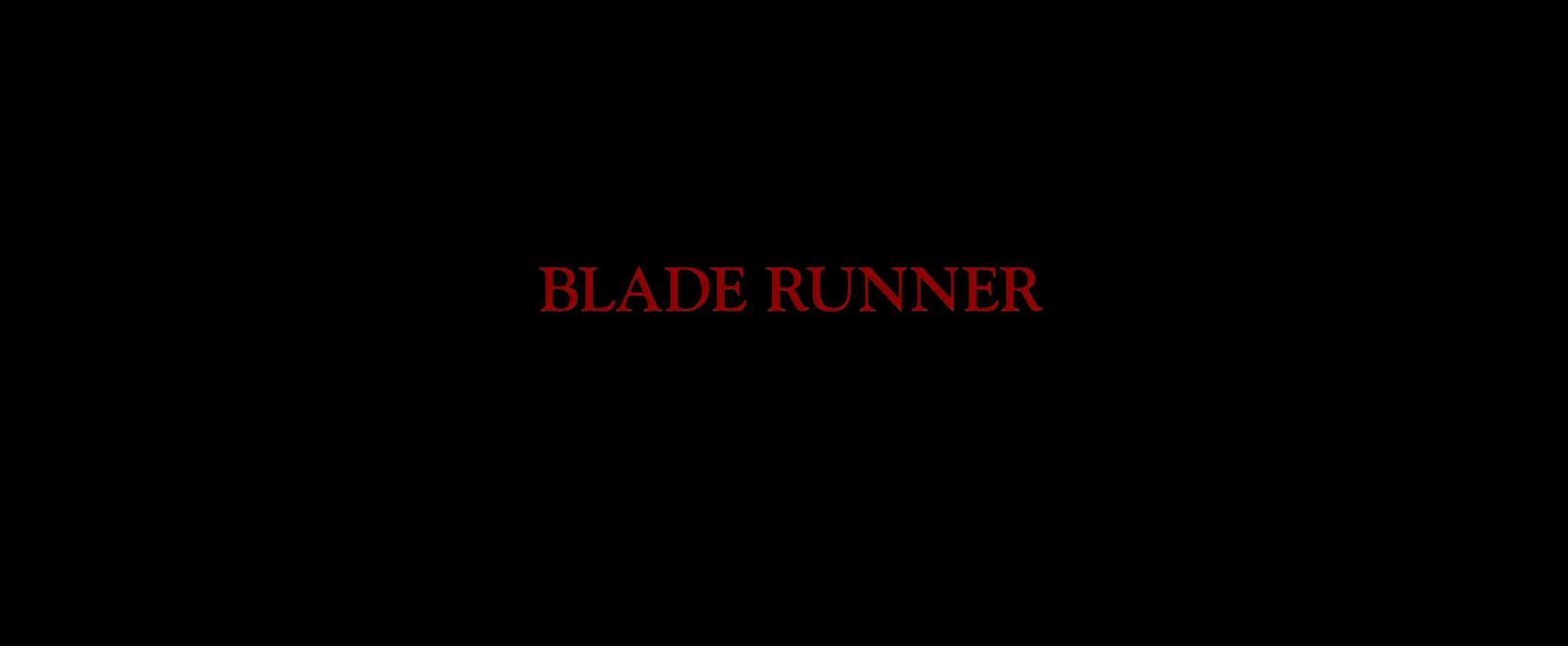Blade Runner Title