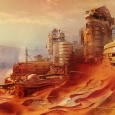 the planet mars in Destiny - Bungie artwork