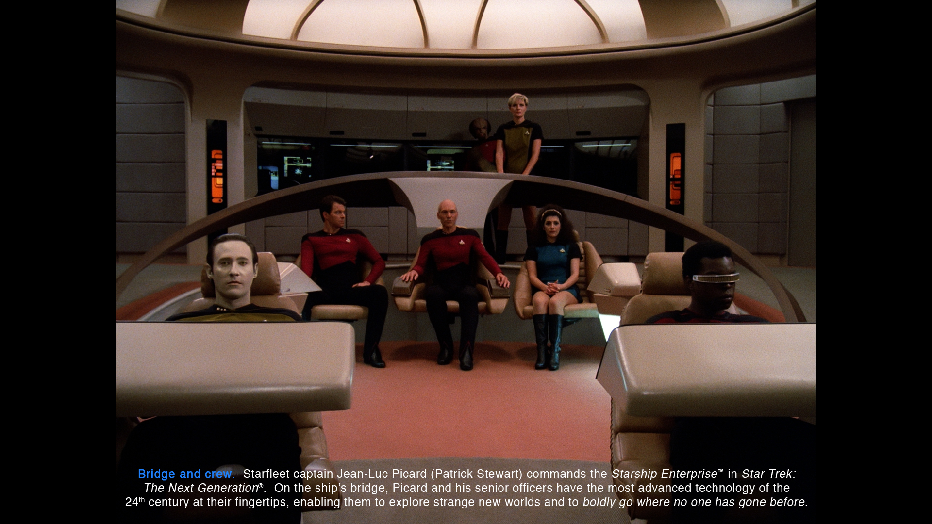 Encounter at Farpoint - bridge crew.