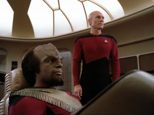 Worf and Captain Picard