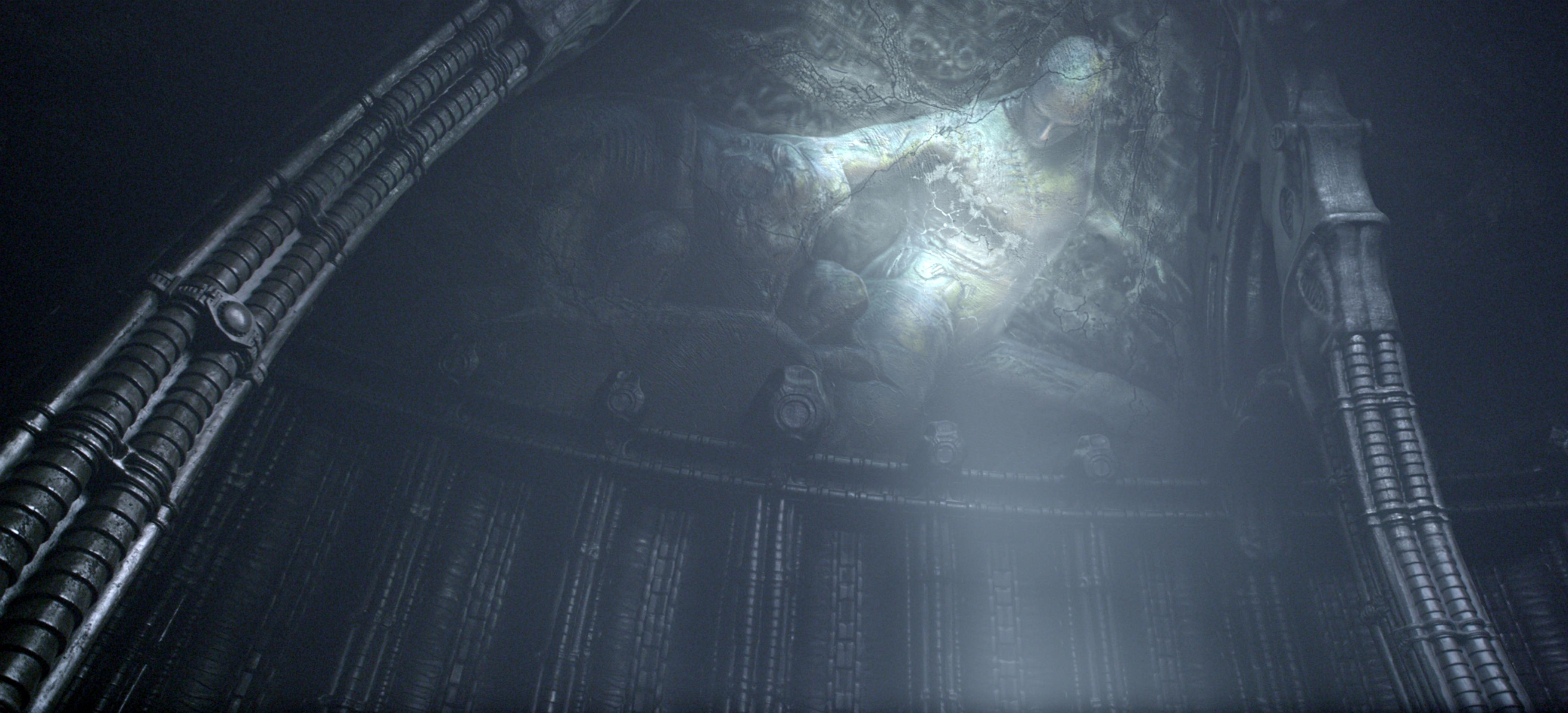 Prometheus ridley scott noomi rapace scifiempire for Prometheus xenomorph mural